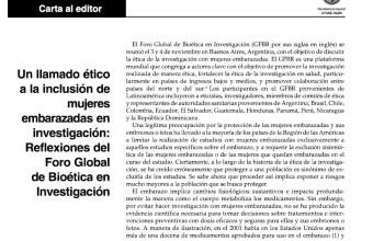 Nueva publicación: Un llamado ético a la inclusión de mujeres embarazadas en investigación