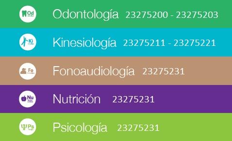 Servicios clínicos y teléfonos