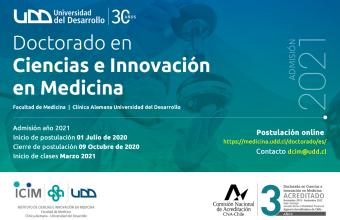 Doctorado en Ciencias e Innovación en Medicina abre sus postulaciones para el año 2021