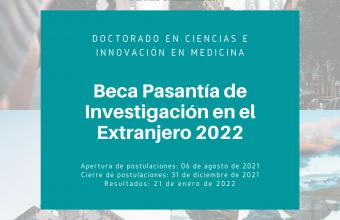 """DCIM inicia su tercera convocatoria del concurso """"Beca pasantía de investigación en el extranjero año 2022"""""""