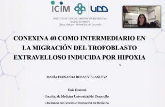 María Fernanda Rozas nueva titulada del Doctorado de Ciencias e Innovación en Medicina
