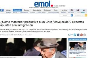 Cómo mantener productivo a un Chile envejecido Expertos apuntan a la inmigración