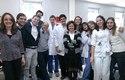 Con los internos de Medicina