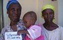 Madre e hija haitianas
