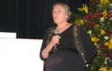Dra. Lynn Margulis en campus Las Condes