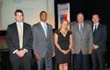 Autoridades en premiación Start Up Salud