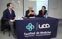 Alberto Lecaros, doctor Juan Pablo Beca y Alejandro Leiva