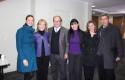 Rebecca Stephenson, Decano Pablo Vial,Sonia Roa, Jorge Molina y docentes de Kinesiología