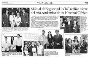 Mutual de Seguridad realizó cierre de año académico - El Mercurio 27 de diciembre 2013