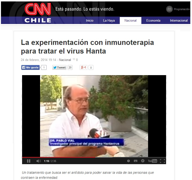 Virus Hanta - CNN Chile