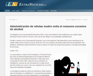 Administración de células madre evita el consumo excesivo de alcohol