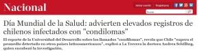 Advierten elevados registros de chilenos infectados con condilomas