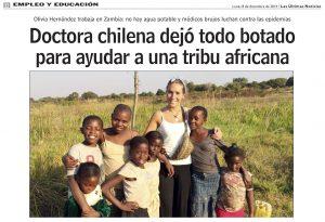 Doctora chilena dejó todo botado para ayudar ana tribu africana - 8 de diciembre 2014