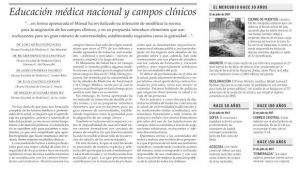 El Mercurio - campos clinicos