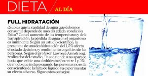 Full Hidratación - Revista Womens Health - 09 de enero 2015
