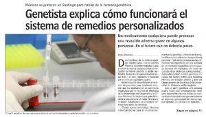 Genetista explica cómo funcionará el sistema de remedios personalizados