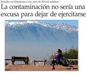 La contaminación no sería una excusa para dejar de ejercitarse - El Mercurio 31 de marzo 2015