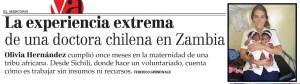 La experiencia extrema de una doctora chilena en Zambia - Vida Actual El Mercurio 17 de enero 2014