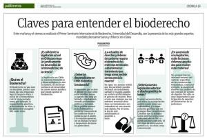 Las claves para entender el bioderecho - Publimetro 11 de marzo 2015