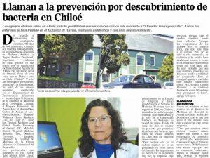 Llaman a la prevención por descubrimiento de bacteria en Chiloé