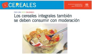 Los cereales integrales también se deben consumir con moderación - Edición Especial El Mercurio 10 de julio 2014