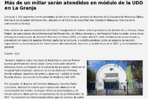 Más de un millar serán atendidos en módulo de la UDD en La Granja