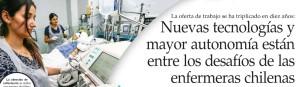 Nuevas tecnologías y mayor autonomía están entre los desafíos de las enfermeras chilenas - El Mercurio 18 de enero 2015