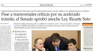 Pese a críticas se aprobó Ley Ricarte Soto