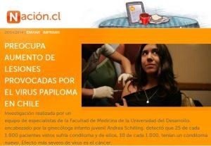 Preocupa aumento de lesiones provocadas por virus de papiloma en Chile - La Nacion.cl 20 de abril 2014