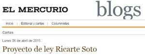 Proyecto de ley Ricarte Soto