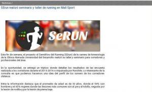 SErun realizó seminario y taller de running