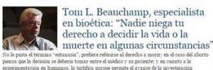 Tom Beauchamp Nadie niega tu derecho a decidir la vida o la muerte en algunas circunstancias - El Mercurio L