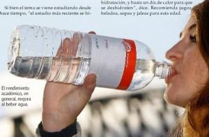 Tomar agua mejora el ánimo y favorece el aprendizaje - El Mercurio 20 de agosto 2014