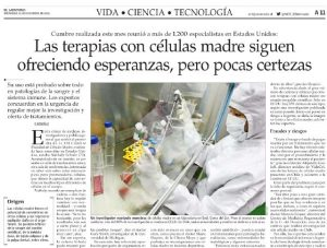las terapias con células madre