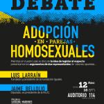 Afiche Debate Adopción en Parejas Homosexuales