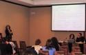 Andrea Olea en exposición sobre enfermedad meningocóccica