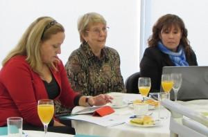 Dra. Liliana Jadue, Ilga Lange y Claudia Pérez