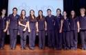 Estudiantes y profesores - Investidura Enfermería 2014
