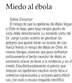 Miedo al ébola