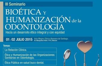 Invitación: III Seminario de Bioética y Humanización de la Odontología