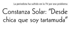 Constanza Solar Desde chica que soy tartamuda
