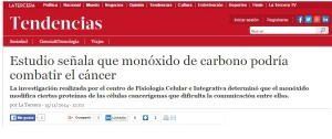monóxido de carbono podría combatir el cáncer