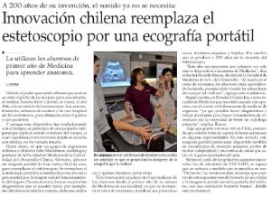Innovación chilena reemplaza el estetoscopio por una ecografía portátil