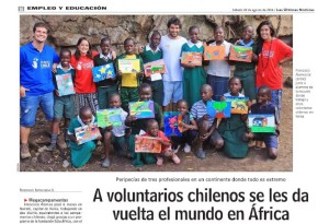 A voluntarios chilenos se les da vuelta el mundo en África