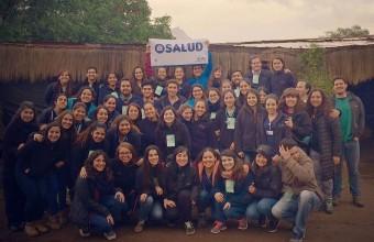 Alumnos de la Facultad realizaron operativo de salud en la Caminata de Los Andes