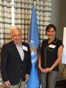 Dr. Beca y Directora de Programa Regional de Bioetica de PAHO