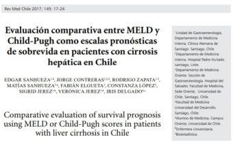 Publicación UDD, Clínica Alemana y HPH es premiada por la Revista Médica de Chile