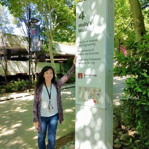 Alumna de doctorado realiza pasantía en Australia