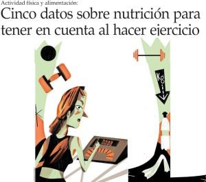 Cinco datos sobre nutrición para tener en cuenta al hacer ejercicio - El Mercurio 6 de noviembre 2014