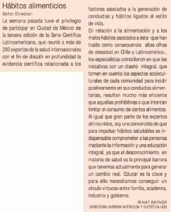 Columna de opinión Rinat Ratner - Diario Financiero